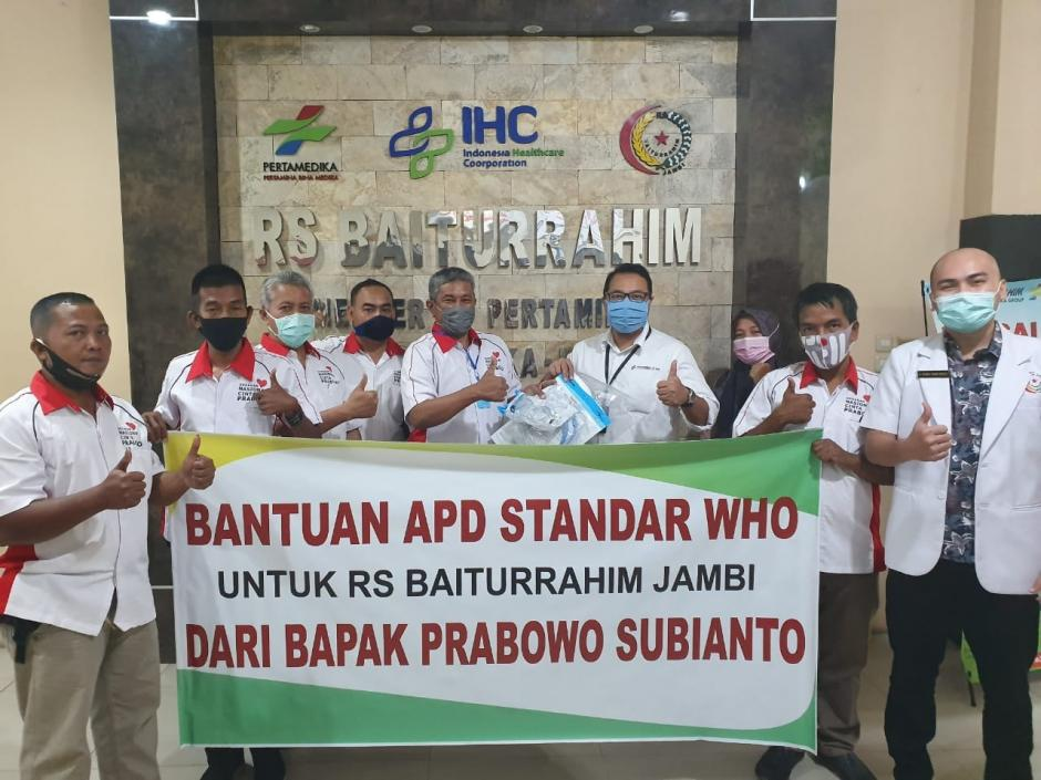 RS Baiturrahim Jambi Terima Bantuan APD Standar WHO dari Bapak Prabowo Subianto
