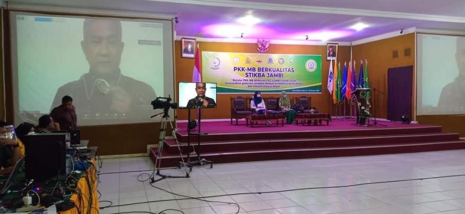 Perdana pembukaan PKKMB Stikba secara daring