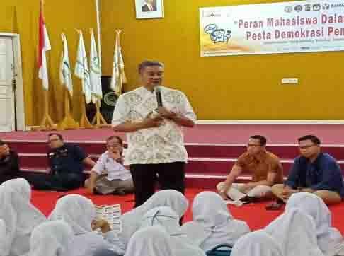 SAMBUT ROAD SHOW KOPIPEDE DI STIKBA, FILIUS CHANDRA AJAK MAHASISWA BELAJAR BERDEMOKRASI